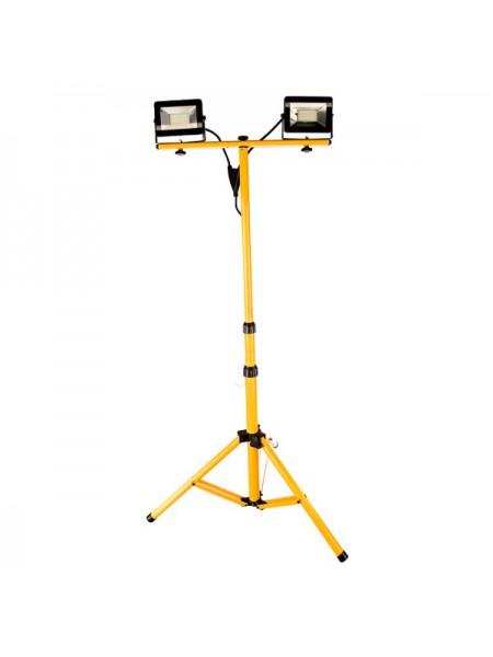 Прожектор на штативе FERON LL-502 2*30W 6400К 220V черный IP65 29567