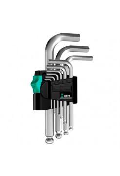 Набор Г-образных ключей 950 PKS/9 SM N CLIP 9TLG / 9 PCS WERA WE-133163