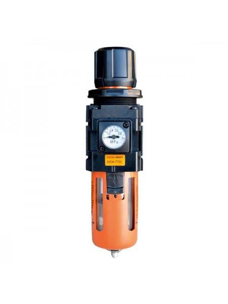 Фильтр-масло/влагоотделитель с регулятором и манометром WIEDERKRAFT WDK-7730