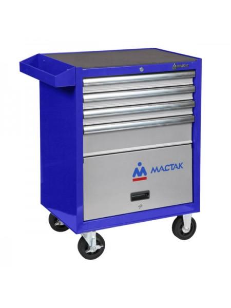 Тележка инструментальная (4 ящика и отсек, синяя) МАСТАК 522-04581B