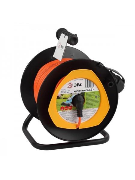 Силовой удлинитель ЭРА RPx1e3х0.7520m на пластиковой катушке, c заземлением, 1 гнездо, 20м, ПВС 3х0.75 Б0043045