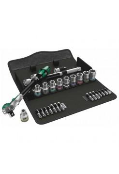 Набор инструмента WERA 8100 SC 9 Zyklop Speed трещотка 1/2, биты, головки, дюймовый, 28 пр. WE-004079
