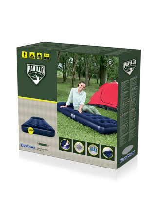 Надувной матрас BestWay Easy Inflate Flocked Air Bed/Single/ 67223 BW