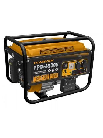 Электрогенератор бензиновый CARVER PPG 6500E