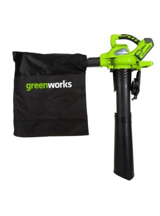 Аккумуляторный воздуходув-пылесос GREENWORKS GD40BV 24227