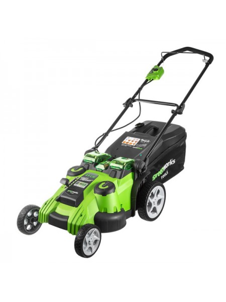 G-MAX 40V Газонокосилка 49 см GREENWORKS G40LM49DB Twin Force