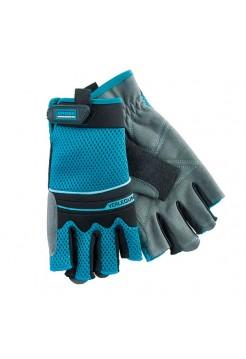 Перчатки комбинированные облегченные с открытыми пальцами (L) GROSS 90316