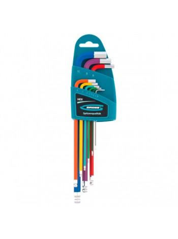 Набор имбусовых ключей с шаром HEX 1,5–10 мм GROSS 9 шт. 16400