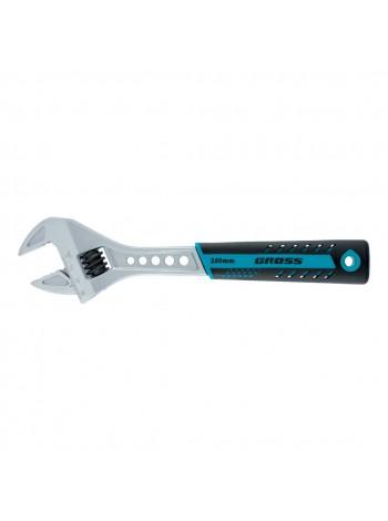Ключ разводной, 200 мм, CrV, двухкомпонентная ручка GROSS