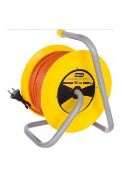 Силовой удлинитель на катушке Inforce К4-О-50 50 м 4 розетки 24050