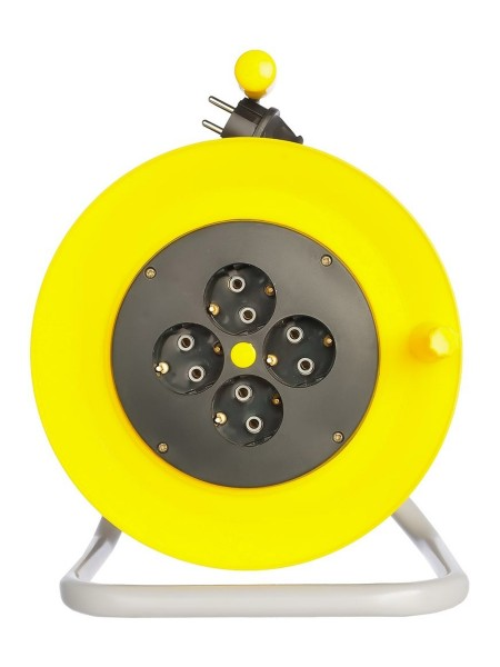 Силовой удлинитель на катушке Inforce К4-Е-40 ПВС 3x1.5 40м 4 розетки 25140