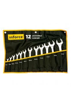 Набор рожковых ключей 12 предметов Inforce 06-05-44