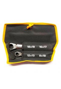 Набор накидных трещоточных ключей 4 в 1 Inforce 06-05-90