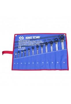 Набор ком-ных трещоточных ключей, 12 предметов KING TONY 12212MRN