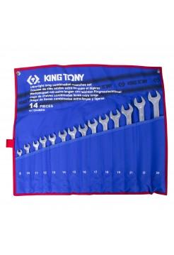Набор ком-ных удлиненных ключей, 8-24 мм, 14 предметов KING TONY 12A4MRN
