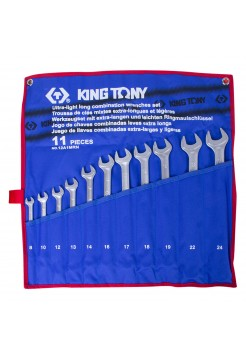Набор ком-ных удлиненных ключей, 8-24 мм, 11 предметов KING TONY 12A1MRN