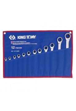 Набор ком-ных трещоточных ключей, 12 предметов KING TONY 12112MRN