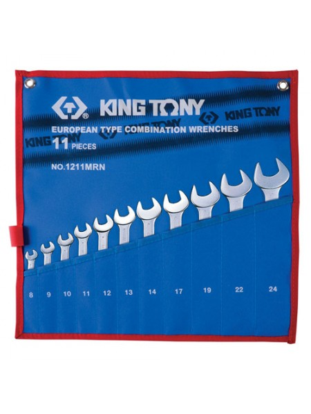 Набор комбинированных ключей, 8-24 мм, 11 предметов KING TONY 1211MRN