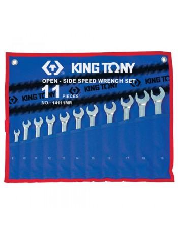 Набор трещоточных ключей, 8-19 мм, 11 предметов KING TONY 14111MRN