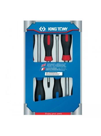 Набор отверток в коробке, силовые, 6 предметов KING TONY 30206MR