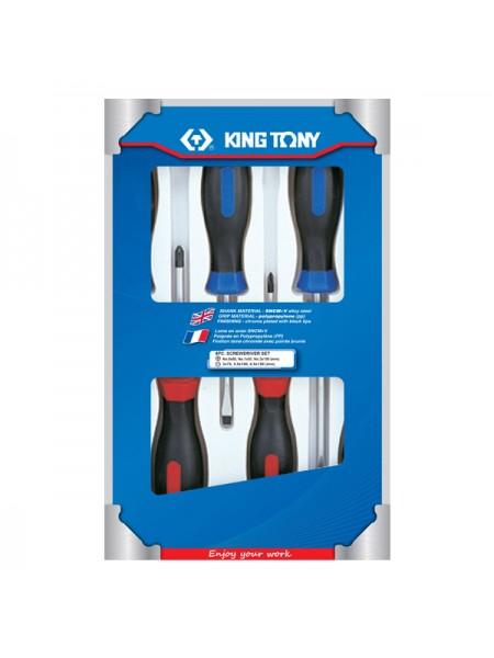 Набор отверток в коробке, 6 предметов KING TONY 31116MR