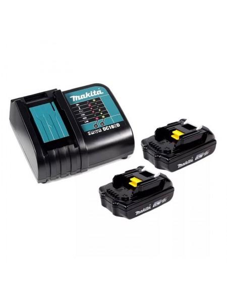 Аккумулятор BL1815N 2 шт. (18В;1.5 А*ч; Li-ion) + зарядное устройство DC18SDMakita 197143-8