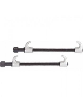 Стяжка амортизаторных пружин, 300 мм, кованная, одинарный крюк, 2 предмета МАСТАК 100-05300