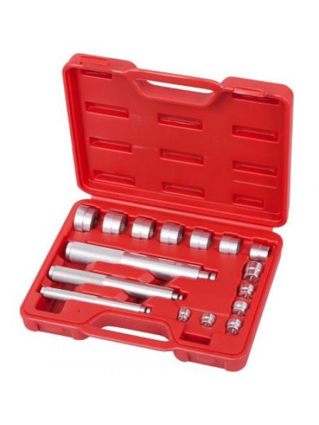 Набор оправок алюминиевых для подшипников, 10-32 мм, кейс, 16 предметов МАСТАК 100-20017