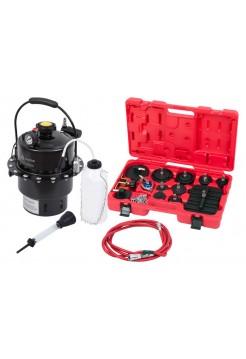 Набор приспособлений для замены тормозной жидкости, 6 л, комплект крышек адаптеров, 15 предметов МАСТАК 102-40005