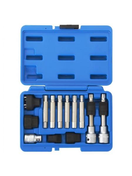 Набор специальных головок и насадок для шкива генератора, кейс, 13 предметов МАСТАК 106-10013C