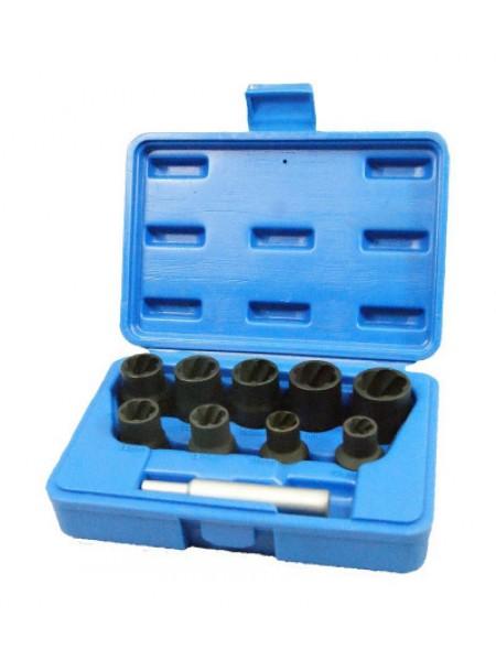 Набор торцевых головок для поврежденных гаек и болтов, 10-19 мм, кейс, 10 предметов МАСТАК 109-30010C