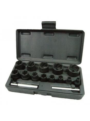 Набор торцевых головок для поврежденных гаек и болтов, 8-21 мм 15 предметов МАСТАК 109-30015C