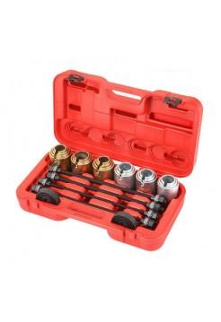 Набор оправок для монтажа и демонтажа сайлентблоков, кейс, 6 предметов МАСТАК 110-20026C