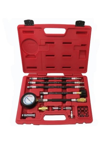 Компрессометр бензиновый, 0-21 атм, кейс, 19 предметов МАСТАК 120-10019C