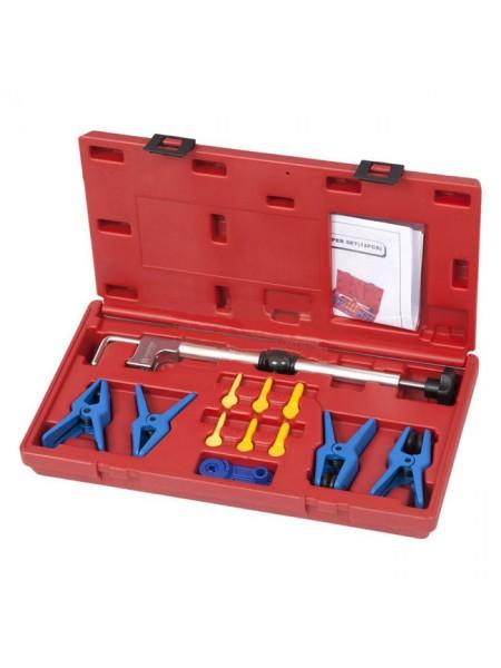 Набор заглушек для патрубков с металлическими наконечниками, зажим, кейс, 12 предметов МАСТАК 102-10002C