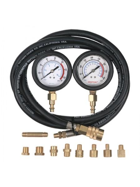 Манометр для измерения давления масла, два манометра, 0-7 и 0-20 бар МАСТАК 120-20028C