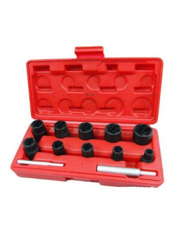 Набор торцевых головок для поврежденных гаек и болтов, 8-21 мм, кейс, 12 предметов МАСТАК 109-30012C