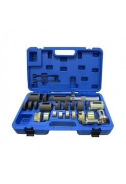 Набор оправок для монтажа и демонтажа сайлентблоков BMW, гидравлический, кейс, 26 предметов МАСТАК 110-23026C