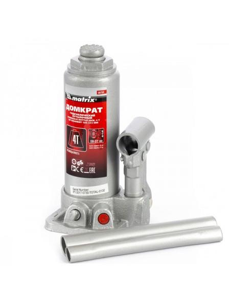 Гидравлический бутылочный домкрат г/п 4т MATRIX MASTER 50754