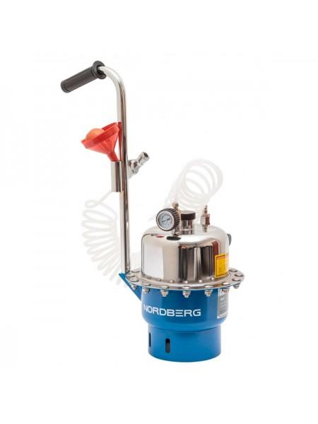 Установка пневматическая для прокачки тормозной системы и системы сцепления, объем 6 л. NORDBERG BC5