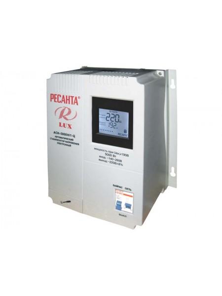 Однофазный стабилизатор напряжения Ресанта АСН 5000 Н/1-Ц Lux