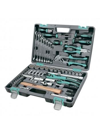 Набор инструментов 76 предметов, 12 гранные головки STELS 14116