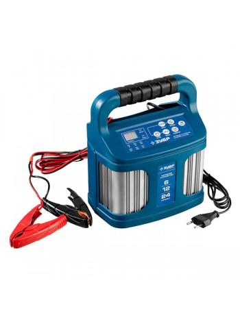 Зарядное устройство ЗУБР ПРОФЕССИОНАЛ, 12В, 12А, автомат, IP65, AGM, GEL, WET 59305