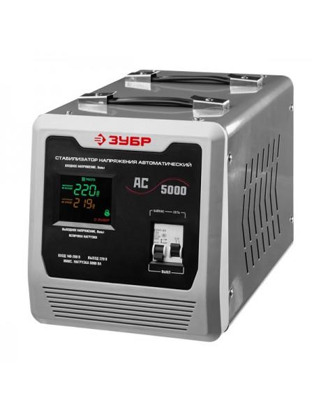 Автоматический стабилизатор с цифровой индикацией Зубр АСН-5000-1-Ц ПРОФ. 59380-5