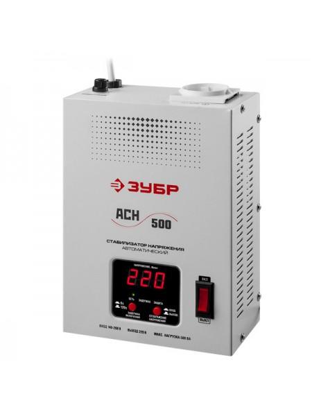 Автоматический стабилизатор с цифровой индикацией Зубр Профессионал АСН-500-1-ЦН 59381-0.5